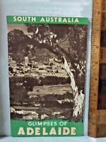 VINTAGE 1940S SA TOURIST BUREAU FOLD-OUT BROCHURE GLIMPSES OF ADELAIDE VGC!!!