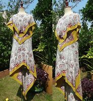 Etro Paisley Scarf Print Silk Dress Kaftan Gown Dress w/ Wings I40/S-M