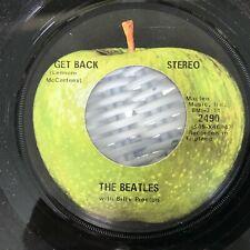 The Beatles Get Back / Don't Let Me Down Original apple 45 VG+