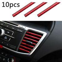 10pcs PVC 20cm Car Air Conditioner Outlet Vent Decor Trim Strips DIY Accessories