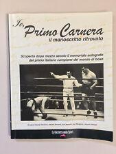 Io Primo Carnera Il manoscritto ritrovato La gazzetta dello sport 2003