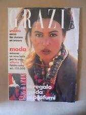 GRAZIA Rivista di moda n°2598 1990 con Monica Bellucci in copertina [VL29]