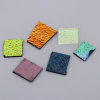 COE 90,1 Oz Mixed Pattern Dichroic Scrap Glass Fusible Glass Charm DIY Craft