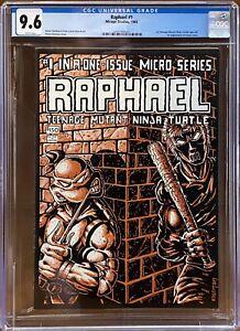 Raphael #1 CGC 9.6 White Pages 1st Casey Jones One-Shot TMNT