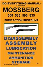 Mossberg 500 535 590 835 Pump Action Shotgun Do Everything Manual Care Book New 00004000