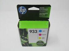 NEW Sealed HP N9H56FN 933 Cyan, Magenta and Yellow Ink Cartridges - 3 Pieces