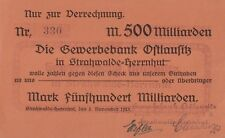 Strahwalde Herrnhut 500 Mrd Mark 1923        / RBspezial