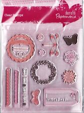 HANDMADE Clear Stamp Set from Docrafts (borders, butterfly, dragonfly, frames)
