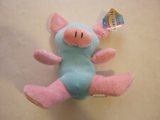 Beanpals Blue and Pink Pig (I think) by Kellytoy  with original ear tag(GS6-6)