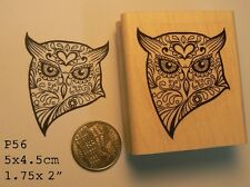 Sugar owl rubber stamp P56