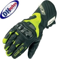 spada enforcer warm winter motorcycle gloves black/flo yellow -ride recommended