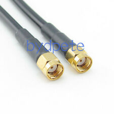 3ft RG58 RP-SMA male plug to RP-SMA male RF Pigtail Jumper Cable 100cm 3feet