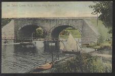 Postcard SILVER CREEK New York/NY  Beach Park Double Arch Bridge view 1907?