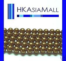 50 Swarovski Crystal Beads Pearl 5810 6mm ANTIQUE BRASS
