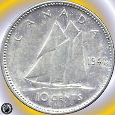 1947 MLeaf 1952 1956 1957 1960 1962 Canada 10 Cents(2.3328 grams .800 Silver Ea)