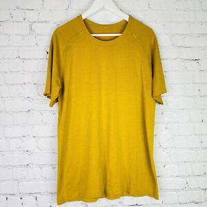 Lululemon Metal Vent Tech Short Sleeve Shirt Men's Size Large Golden Yellow