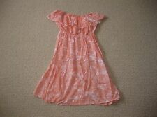 Gorgeous Girls Apricot & White Strapless Dress Size 8-10