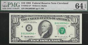 1995  $10  CLEVELAND FED   ((( STAR )))   PMG 64 EPQ  L@@K  NR