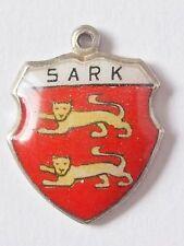 Sark    vintage silver enamel travel charm