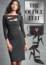 $695 LA PETITE ROBE DI CHIARA BONI CASSIA DRESS IN  BLACK  SZ 48/12 NWT