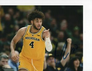 MICHIGAN WOLVERINES ISAIAH LIVERS SIGNED 8X10 DETROIT PISTONS