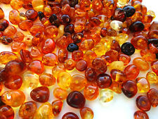 Real Baltic Holed Amber Loose Beads About 160-200 beads 10gr+1 screw clasps