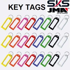 Key Tags Plastic Key Rings ID Tags Name Label Key Fob Tag
