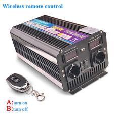Spannungswandler 3000W/6000 watt 12V - 230V Softstart Wechselrichter USB Remote