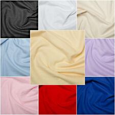 Plain Coloured Wincyette Flannel Brushed 100% Soft Cotton Fabric - 9 colours