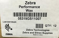 Zebra 05319GS11007 Wax Ribbon 4.33inx242ft 5319 Performance 0.5in core- Thermal