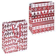Pack 2 Navidad Mediano Bolsa Regalo 23cm X 18cm X 8cm Rojo