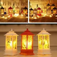 1* Portable Christmas LED Lamp Hanging Lamp Lantern Flame Xmas Decor