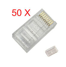 50 x  2 Piece Genuine CAT6 6 LAN Connection Plugs Connectors Ethernet end Crimp