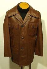vintage 1970's men's SEARS leather jacket coat fight club pimp rocker - size 40