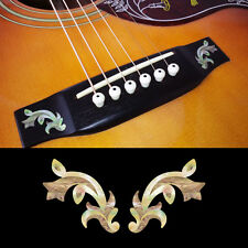 Guitar Bridge Inlay Stickers Decals Traditional (White Pearl) 2pcs/set