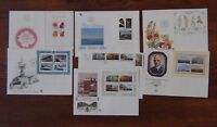 South Africa 7 x FDC 1978 1982 Roses Navy Orchids Volschenk Paintings Wenning Ms