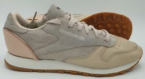 Reebok Classic Leather/Suede Trainers BD3744 Pink/Rose Gold/Gum UK6/US8.5/EU39