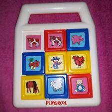 Slide A Square Matching Game by PLAYSKOOL 1990 Farm yard vintage toy retro RARE