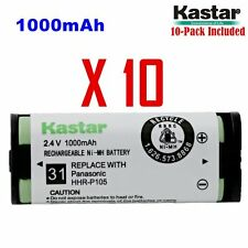 Kastar  HHR-P105 ( 10 Pack) Cordless Phone Battery For Panasonic Type31