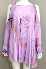Free People Womens Dress Small Lilac Floral Asymmetrical New