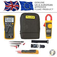 Fluke 113 True RMS Multimeter KIT75 + 323 Clamp Meter + TPAK3 + 1AC + C115 Case