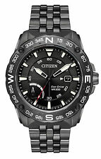 New Citizen Eco-Drive Compass Grey Stainless Steel Men's Watch AW7047-54H