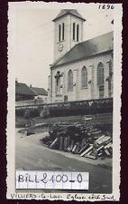 Villers-le-lac ( Doubs )  l'église  . photo ancienne .1948