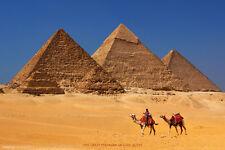 Pyramids of Giza Khufu Khafre Menkaure Seven Wonders Of World Poster - 12x18