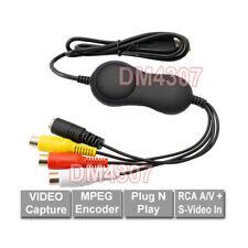 Analog CVSB S-Video To PC USB Video Recorder No Driver Setup Needed