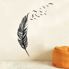 Hot Sale Black Feather Creative Wall Stickers Home Living Room Art Decor Sticker