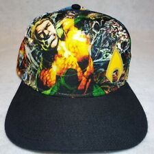 Bioworld Aquaman All-Over Print Black Snapback Hat Dc Comics Cap Euc Excellent