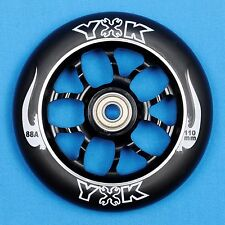 YAK Mechanic Scooter Wheel 110mm Black w/Bearings - Razor Lucky District Phoenix