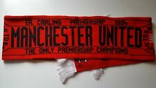 MANCHESTER UNITED FA CARLING PREMIERSHIP 1994 CHAMPIONS FOOTBALL SOCCER SCARF