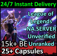 💎 League of Legends Unranked Account 15,000+ Blue Essence 21+ Capsules